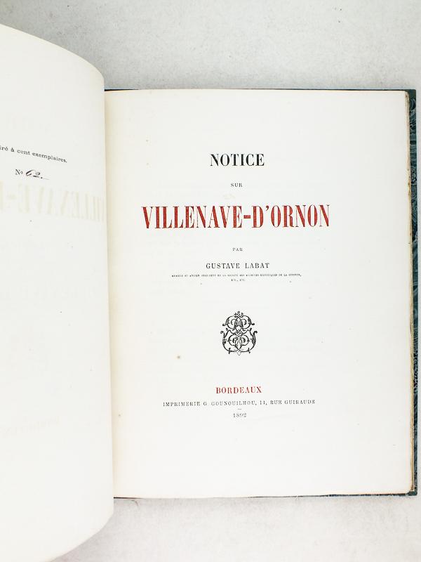 labat gustave notice sur villenave d 39 ornon livres d 39 occasion histoire. Black Bedroom Furniture Sets. Home Design Ideas