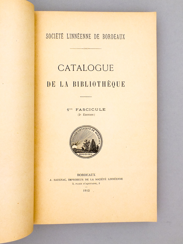 catalogue de la bibliotheque catalogue des publications de la societe