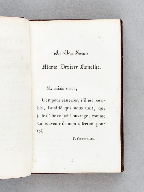 Chatelain M F Lettres à Ma Soeur Sur La Mythologie Comparée à Lhistoire Suivies De Fragments En Prose Et En Vers