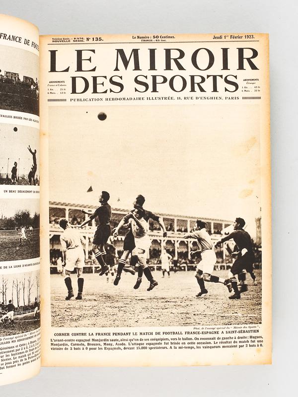 collectif le miroir des sports ann e 1923 compl te du