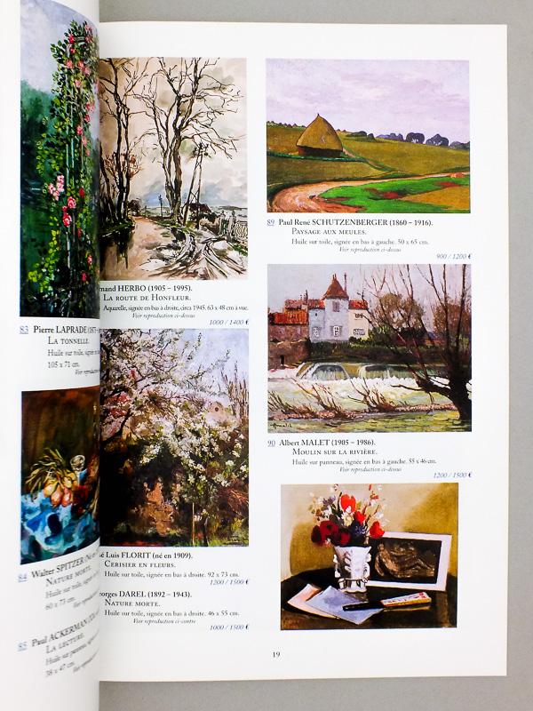 marc labarbe commisaire priseur lot de 4 catalogues de ventes aux ench res de tableaux. Black Bedroom Furniture Sets. Home Design Ideas